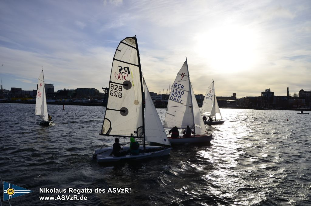Nikolaus Regatta in Rostock 2019 - der Start